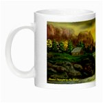 Brenton s Waterfall  by Ave Hurley Night Luminous Mug