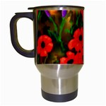 Poppies by Ave Hurley - Travel Mug (White)
