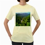 Pa Grand Canyon Long North View Of Gorge   Artrave Women s Yellow T-Shirt