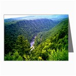 North View Pine Creek Gorge - Leonard Harris State Park - Pennsylvania Grand Canyon  - by Ave Hurley - Greeting Card
