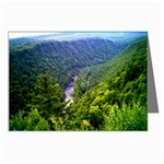 North View Pine Creek Gorge - Leonard Harris State Park - Pennsylvania Grand Canyon  - by Ave Hurley - Greeting Cards (Pkg of 8)