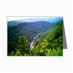 North View Pine Creek Gorge - Leonard Harris State Park - Pennsylvania Grand Canyon  - by Ave Hurley - Mini Greeting Card