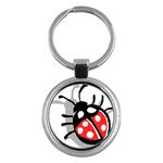 Lady Bug Key Chain (Round)