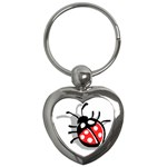 Lady Bug Key Chain (Heart)