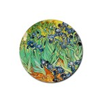 Vincent Van Gogh - Irises Rubber Round Coaster (4 pack)
