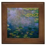 Claude Monet - Water Lilies Framed Tile
