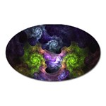 Blue and Green Dark Fractal Magnet (Oval)