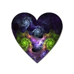 Blue and Green Dark Fractal Magnet (Heart)