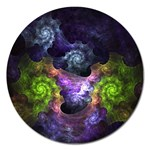 Blue and Green Dark Fractal Magnet 5  (Round)