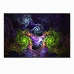 Blue and Green Dark Fractal Postcard 4 x 6  (Pkg of 10)