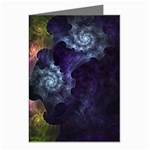Blue and Green Dark Fractal Greeting Cards (Pkg of 8)