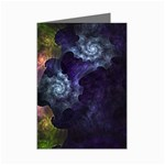 Blue and Green Dark Fractal Mini Greeting Cards (Pkg of 8)
