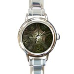 Dark Web Fractal Round Italian Charm Watch
