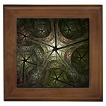 Dark Web Fractal Framed Tile