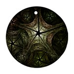 Dark Web Fractal Ornament (Round)