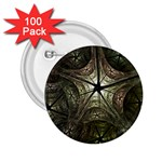 Dark Web Fractal 2.25  Button (100 pack)