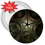 Dark Web Fractal 3  Button (10 pack)