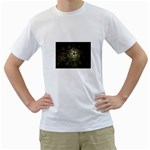 Dark Web Fractal White T-Shirt