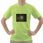 Dark Web Fractal Green T-Shirt