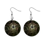 Dark Web Fractal 1  Button Earrings