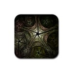 Dark Web Fractal Rubber Coaster (Square)