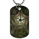 Dark Web Fractal Dog Tag (One Side)