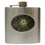 Dark Web Fractal Hip Flask (6 oz)