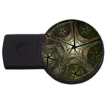 Dark Web Fractal USB Flash Drive Round (1 GB)