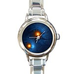 Swirling Pods Fractal Round Italian Charm Watch