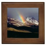 Mountain Rainbow Framed Tile