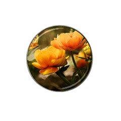 Flowers Butterfly Golf Ball Marker 4 Pack (for Hat Clip) by ADIStyle