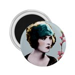 Art Deco Woman in Green Hat 2.25  Magnet