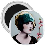 Art Deco Woman in Green Hat 3  Magnet