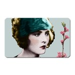 Art Deco Woman in Green Hat Magnet (Rectangular)