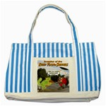 Killer Tomato Squirrel Striped Blue Tote Bag