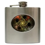 Alien Fractal Hip Flask (6 oz)