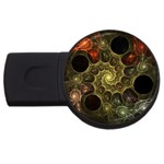 Alien Fractal USB Flash Drive Round (2 GB)