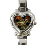 Alien Fractal Heart Italian Charm Watch