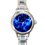Outer Space Fractal Round Italian Charm Watch