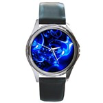Outer Space Fractal Round Metal Watch