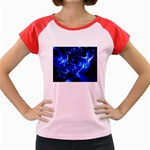 Outer Space Fractal Women s Cap Sleeve T-Shirt