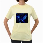 Outer Space Fractal Women s Yellow T-Shirt