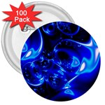 Outer Space Fractal 3  Button (100 pack)