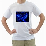 Outer Space Fractal White T-Shirt
