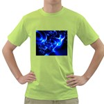 Outer Space Fractal Green T-Shirt