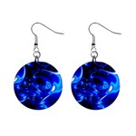 Outer Space Fractal 1  Button Earrings
