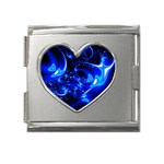 Outer Space Fractal Mega Link Heart Italian Charm (18mm)