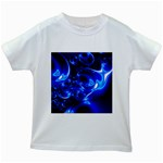 Outer Space Fractal Kids White T-Shirt