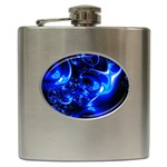 Outer Space Fractal Hip Flask (6 oz)
