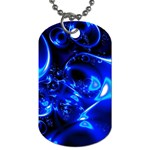 Outer Space Fractal Dog Tag (Two Sides)